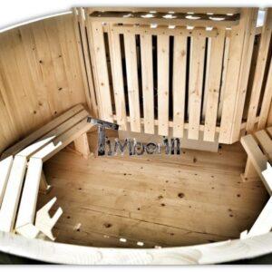 Cheap wooden hot tubBain scandinave tonneau en kit pas cher
