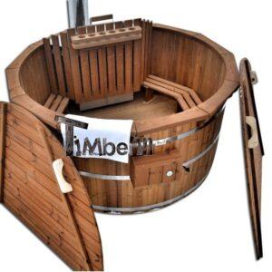 Bain nordiques finlandais en kit thermo bois tonneau pour terrasse
