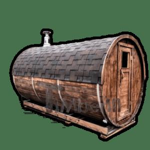 sauna extérieur tonneau traditionnel