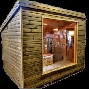 Cabine sauna exterieur