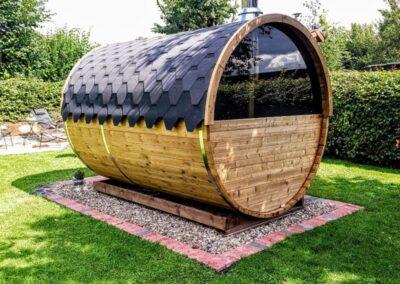 sauna extérieur tonneau panoramique