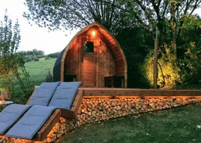 sauna extérieur traditionnel