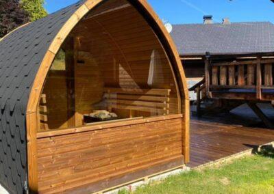 sauna extérieur panoramique